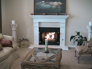 Elegant and Unique Fireplace Glass
